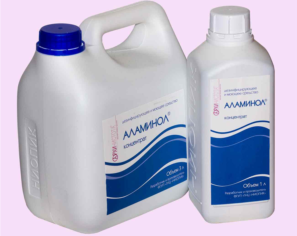 Аламинол канистра 3л и флакон 1л
